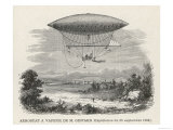 The Steam-Powered Dirigible of Henry Giffard Giclee Print