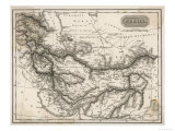 Map of Persia Reproduction procédé giclée
