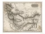Mapa da Pérsia Impressão giclée