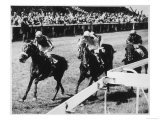 Happy Haven Wins the Pavilion Handicap Race at Brighton from Bally-Conneely and Cabouchon Giclee Print