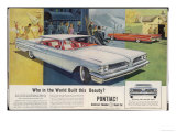 Vista-Lounge Interiors with Seats Wider Than a Sofa, in the New Wide-Track Pontiac Premium Giclee Print