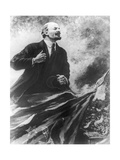 Lenin Making a Rousing Speech Lámina giclée