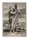 Saint Andrew Patron Saint of Scotland Martyred on a Splayed-Out Cross, Giclee Print