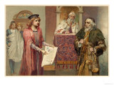 The Merchant of Venice, Act IV Scene I: Shylock Can Have His Pound of Flesh Giclee Print