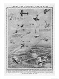 Aerobatics Practised by Combat Aircraft Attacking or Evading the Enemy Giclee Print