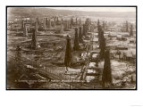 Bird's Eye View of the Oilfield of the Creditu Minier Moreni-Prahova Giclee Print