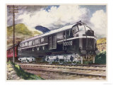 The London Midland and Scottish Railway's Diesel-Electric Loco No 10000 Giclee Print