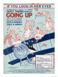 Some Daring Yet Foolhardy Young Ladies Pose on the Top Wing of a Bi-Plane Giclee Print