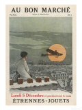 Boy Watches Plane 1911 Lámina giclée