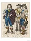 English Royalist Soldiers Giclee Print