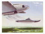 Launching a Mini-Submarine from the Air Giclee Print