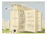 Apartment Block with Provision for Rocket Take-Off on the Roof Giclee Print