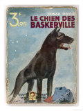 The Hound of the Baskervilles' a Striking Cover for a French Edition Dated 1933 Impression giclée
