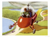 Personal Helicopter Giclee Print