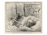 Book-Holding Device for Reading in Bed Giclee Print