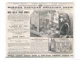 Hinde's Popular Shilling Toys! Advertisement for a Victorian Doll's House Giclee Print