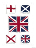 Flags of the United Kingdom, The Union Jack and Its Components Giclee Print