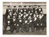 British Sailors Rehearsing Christmas Carols on Board Their Ship Giclee Print