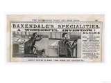 Baxendales Specialitites: Blacks Patent Bell Signalling Speaking Tube Apparatus Giclee Print