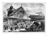 The New Borough Market is Full of People Buying Their Vegetables Giclee Print
