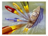 Mailboat Fires off Guided Rockets for Postal Delivery Giclee Print