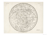 The Southern Hemisphere with Its Zodiac Signs Giclee Print