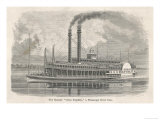 The Elegant Mississippi Paddle Steamer Great Republic Giclee Print