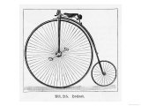 The Penny Farthing Bicycle Giclee Print