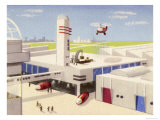 Motor Factory with Provision for Helicopters to Land on the Roof Giclee Print