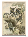 During the War Between Russia and Japan Japanese Forces Use Dogs to Hunt out Russians Giclee Print