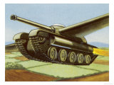 Tank Equipped with Retractable Wings Giclee Print