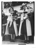 Myzejen Zogu and Ruhije Zogu Two of the Six Sisters of King Zog of Albania Giclee Print