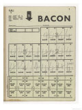 Used Page of Bacon Coupons from a Ration Book Giclée-Druck