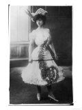"Decollete Gown with ""Theatrical"" Skirt Length Giclee Print"