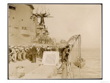 British Sailors Lowering a Lifeboat from H.M.S. Lord Nels Giclee Print