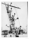 Boys on Board the Training Ship Stork at Hammersmith Giclee Print