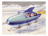 Jet-Propelled Snowmobile Giclee Print