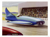 Motor Racing with Atom-Powered Vehicles Giclee Print