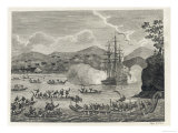 "Tahiti in the Society Islands is ""Discovered"" by Captain Samuel Wallis of the Royal Navy, Giclee Print"