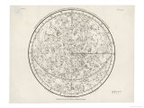 The Northern Hemisphere Including the Signs of the Zodiac Premium Giclee Print