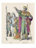 Ancient Jewish Clothing Weaponry and Regalia of an Ancient Jewish King and Warriors Giclee Print
