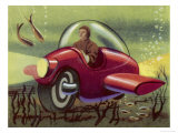 Submarine Motor Cycle Giclee Print