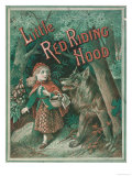 Little Red Riding Hood is Taken by Surprise When a Wolf Appears from Behind a Tree Giclee Print