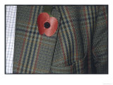 Remembrance Poppy on the Lapel of a Tweed Jacket Giclee Print