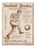 Football Blocks' a Device to Protect a Footballers Shins Reproduction procédé giclée