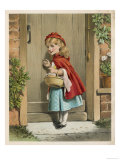 Little Red Riding Hood Knocks at Her Grandmother's Door Giclee Print