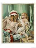 Red Riding Hood Bed Giclee Print