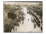 Factory Workers Leaving the Engineering and Ship Repairing Factories of R. and H. Green Giclee Print