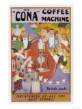 Advertisement for the Cona Coffee Machine Giclee Print