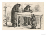 Goldilocks and the Three Bears Giclee Print